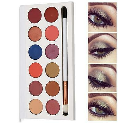 Cosmetics Shimmer Eyeshadow Palette Natural 12 Colors Smoky Makeup Eye Shadow S