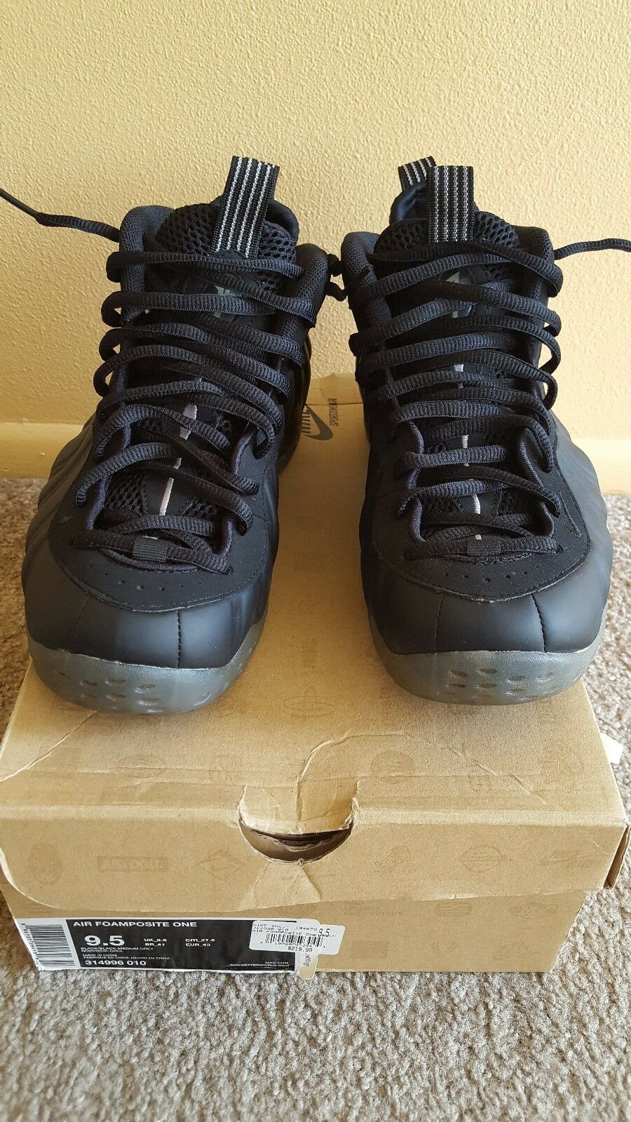 Gentlemen/Ladies Foamposite Stealth 9.5 VNDS Strong heat and wear resistance Win highly appreciated Famous store