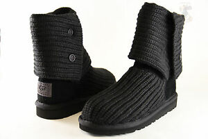kids ugg australia classic cardy 5649 black crochet 100 rh ebay co uk