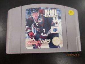 Nintendo 64 N64 - NHL Breakaway 98 - PAL cartouche EUR