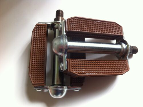"NEW BICYCLE PVC BLOCK PEDALS BROWN 1//2/"" or 9//16/""  LOWRIDER CRUISER CYCLING BIKES"