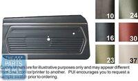 1969 Camaro Standard Black Front Door Panels - Pui
