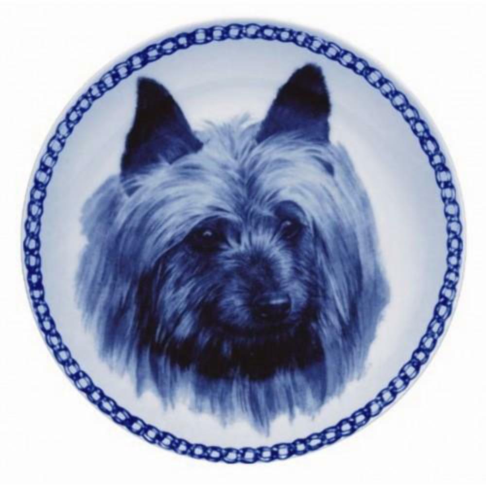Australian Terrier - Dog Plate made in Denmark from the finest European Porcelai