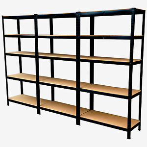 INDUSTRIAL-5-TIER-HEAVY-DUTY-BOLTLESS-METAL-STEEL-SHELVING-SHELVES-STORAGE-UNIT
