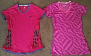 Details about 2 Nike Dri-Fit Pro & Adidas Womens Small Short Sleeve Running  T-Shirt Tops Pink!