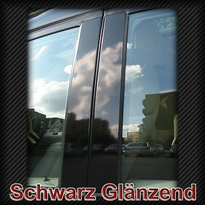 Türsäulen Folien Schwarz für Golf 5 V Polo Passat B5 B6 3C 3B 3BG Jetta B-Säulen