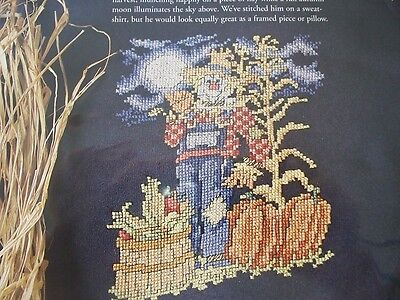 The Midnight Watchman Scarecrow Harvest OOP Magazine Cross Stitch PATTERN (K)