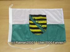 Fahnen Flagge Sachsen Bootsfahne Tischwimpel - 30 x 45 cm
