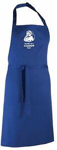 Santa is a Cardiff Fan Christmas Apron.Secret Santa Gift
