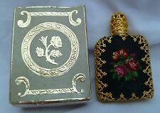 1950s LANCÔME VINTAGE MINIATURE PERFUME BOTTLE PETIT POINT FILIGREE ORIGINAL BOX