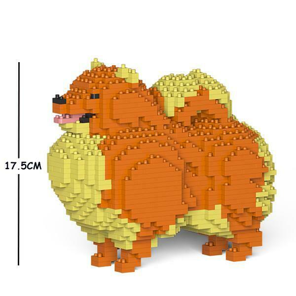 JEKCA Animal Building Blocks Kit for Kidults Pomeranian 01S-M01