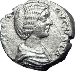 JULIA-DOMNA-Caracalla-amp-Geta-mother-209AD-Silver-Ancient-Roman-Coin-JUNO-i70069