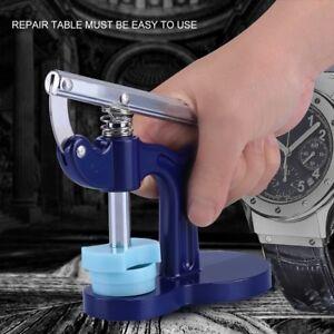 Watch-Case-Press-naeher-Presser-Reparatur-Werkzeug-Set-Montage-Uhrmacher-mit-12-Matrizen