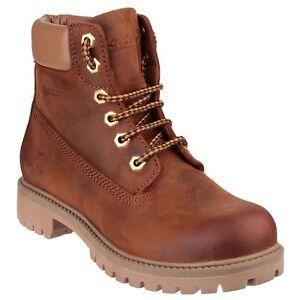 Cotswold-berrow-Botines-Cuero-Con-Cordones-Exterior-Impermeable-Zapatos-Mujer