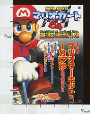 MARIO KART 64 Gekisou Bucchigiri Guide Book Nintendo AP*