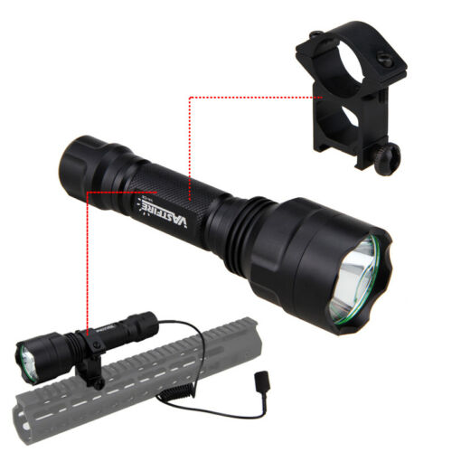 XML Q5 LED 5000Lm Rot Taschenlampe Flashlight Jagd Torch Lamp 25mm Mount Fackel