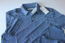 Tommy Bahama Polo Shirt Double Tempo Maritime Blue T217843 Extra Large XL