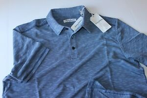 Tommy-Bahama-Polo-Shirt-Double-Tempo-Maritime-Blue-T217843-New-Extra-Large-XL