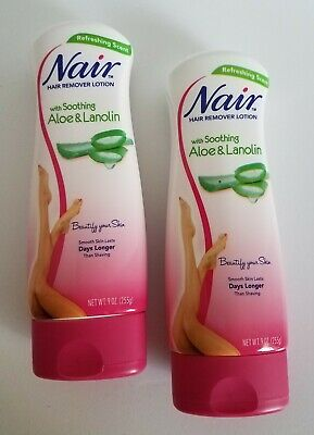 2 Nair Hair Remover Lotion With Aloe Lanolin 9 Oz Shaving Women