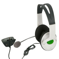 Headset Headphone w/mic for Xbox 360 Live Elite Slim Wireless Controller White