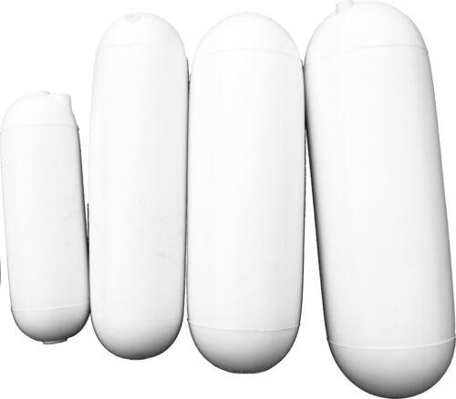 Parabordo Foro Passante 14 x 46 cm in PVC bianco completo di Cima MADE IN ITALY