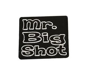 Mr-Big-Shot-Steampunk-Novelty-Biker-Embroidered-Iron-On-Patch