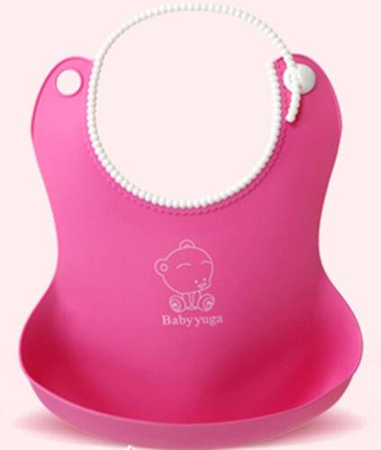 Rose Bébé Infantile Doux Bavoirs Bib Waterproof Cute Lovely Ajustement Confortable