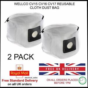 Pour-Wellco-CV15-CV16-CV17-Aspirateur-Reutilisable-Tissu-Poussiere-Sac-a-X-2