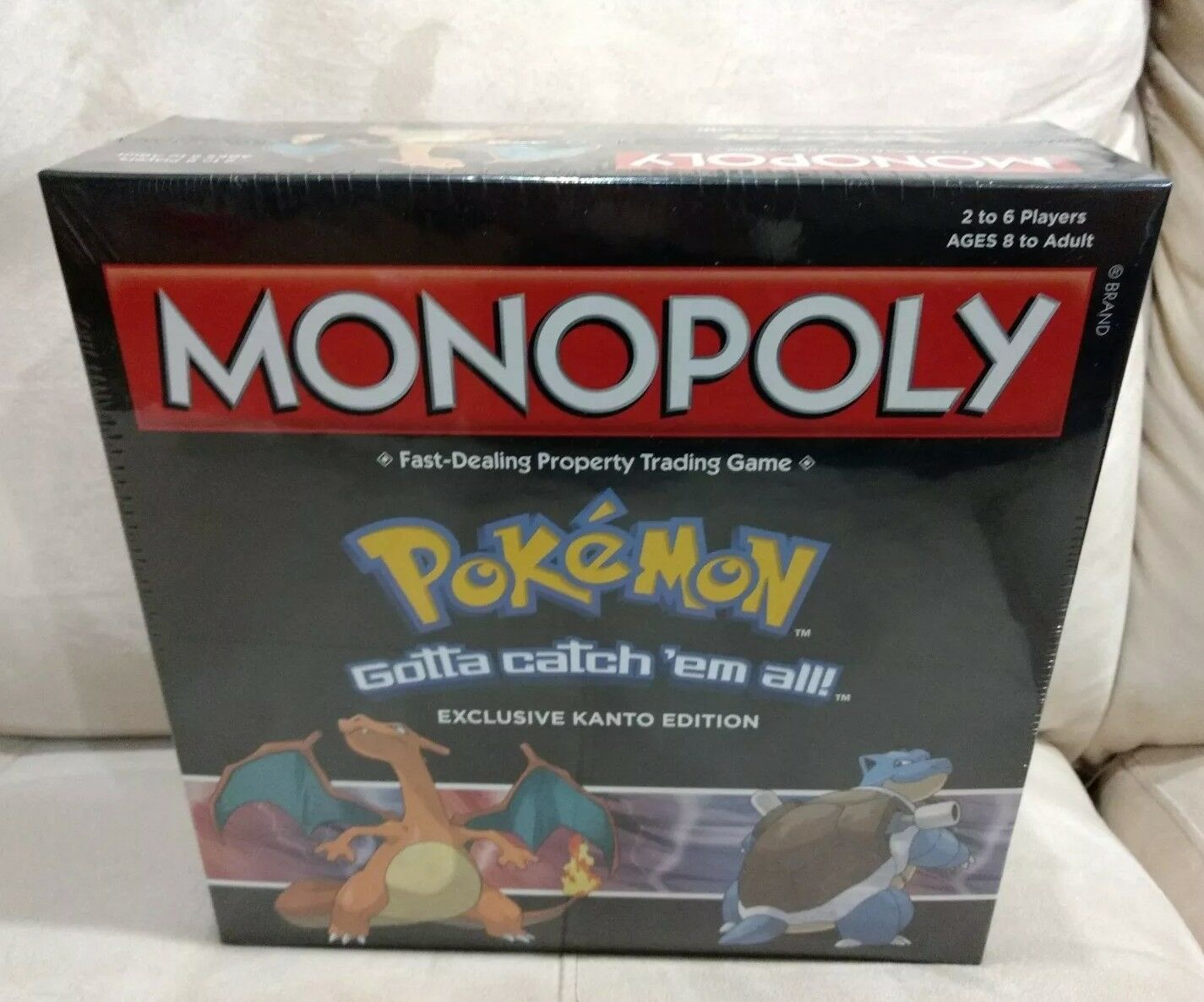 NEW POKEMON MONOPOLY GAMESTOP EXCLUSIVE KANTO COLLECTOR'S EDITION SEALED