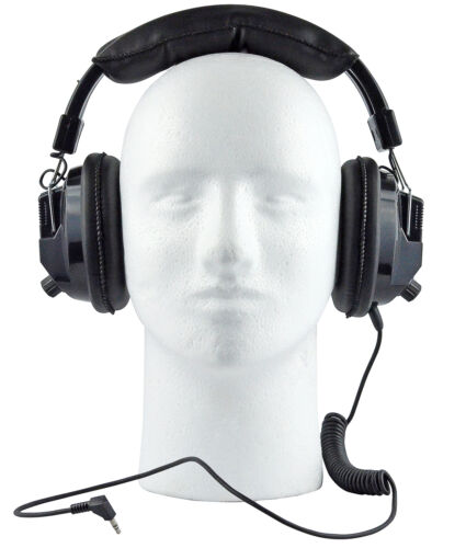 Race Day Electronics Over The Head Stereo Earphones Scanner W// Volume Control