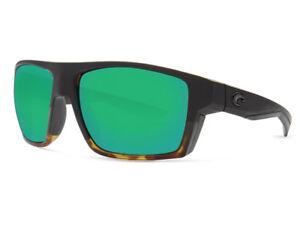 04fd5713af3f1 NEW Costa Del Mar BLOKE Black   Shiny Tortoise   580 Green Mirror ...