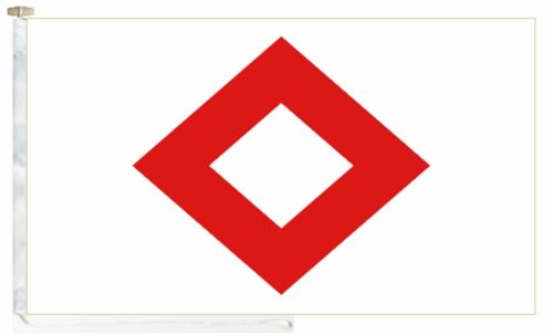 IRC Red Crystal Roped /& Toggled 5/' x 3/' Boat Flag