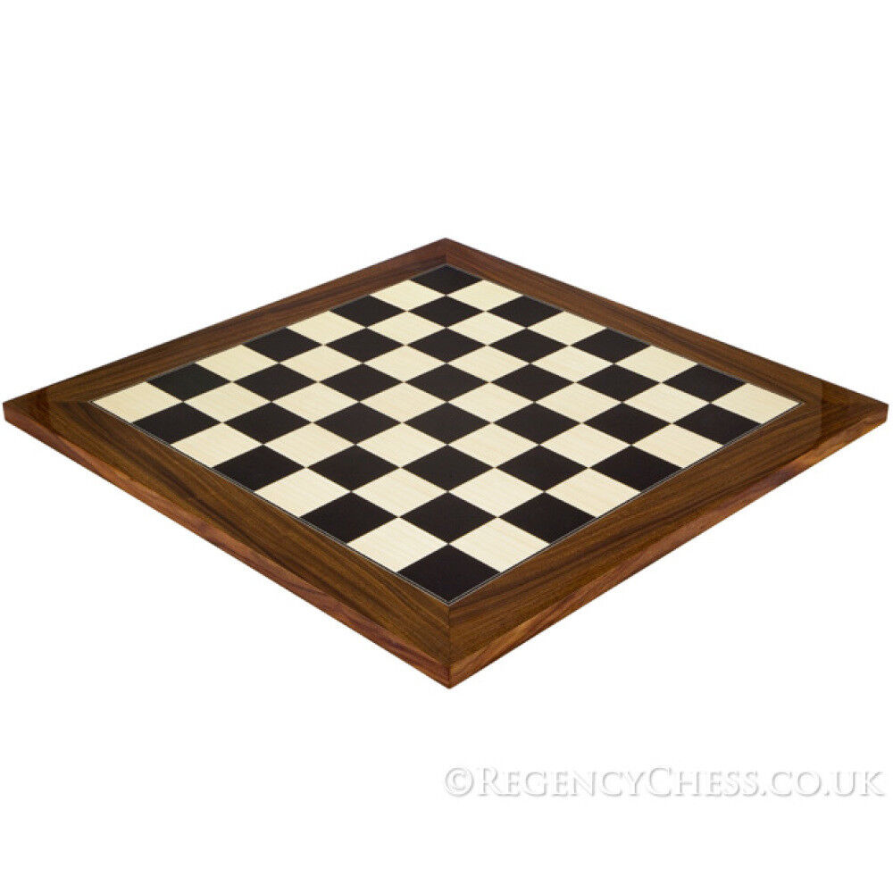 21.7 Inch schwarz Anegre and Palisander Deluxe Chess Board