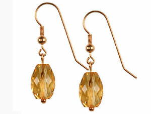 Golden-Citrine-Faceted-Drop-Sterling-Silver-14x8-mm-Earrings