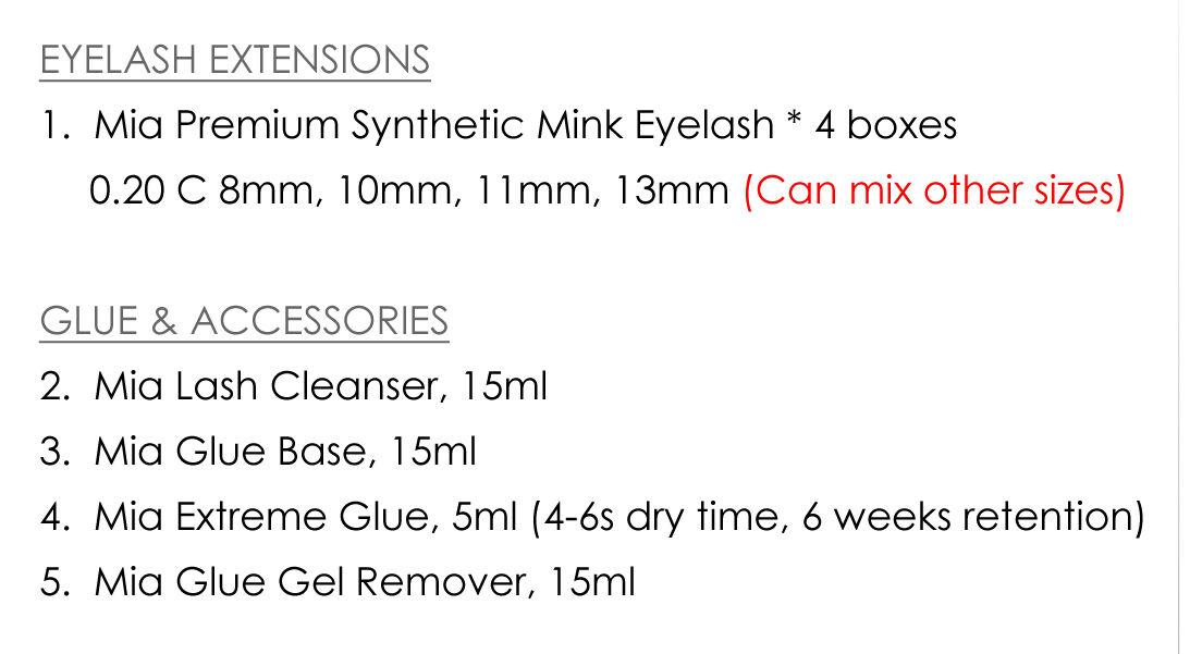 Professional Lash Kit for Eyelash Extension Artist Semi Permanent Beauty Salon 9