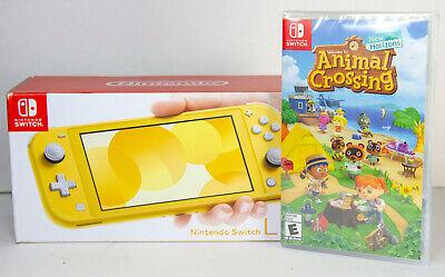 Nintendo Switch Lite Yellow Bundle With Animal Crossing ...