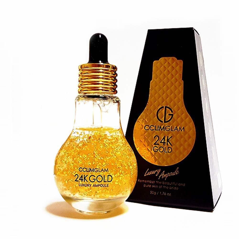 CCLIMGLAM 24K GOLD Luxury Ampoule Facial Serum Moisturizer Skin Care 1.76 fl oz 2