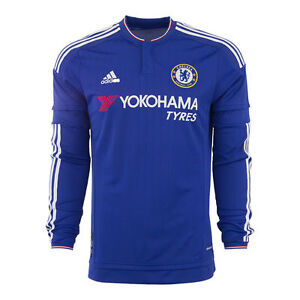 Image is loading ADIDAS-CHELSEA-FC-LONG-SLEEVE-HOME-JERSEY-2015- 59925348f815a