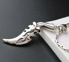925 Sterling Silver Knife Dagger Biker Charm Pendant for Men A2192