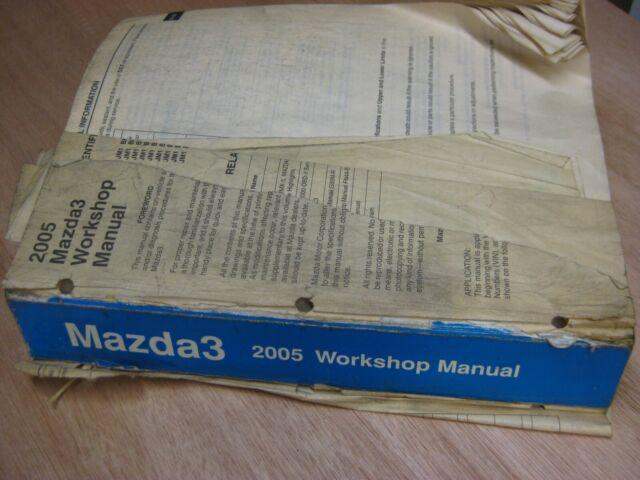 Mazda 3 2005 Dealer Workshop And Wiring Diagram Manuals