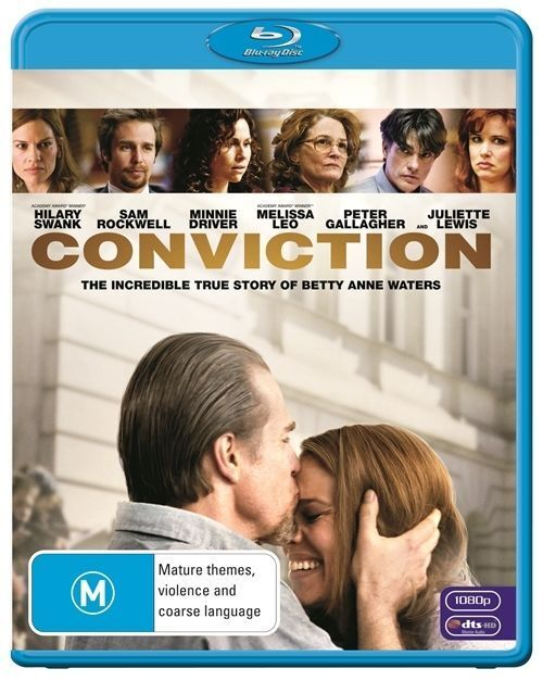 Conviction (Blu-ray, 2011)*Terrific Condition*Hilary swank*True Story