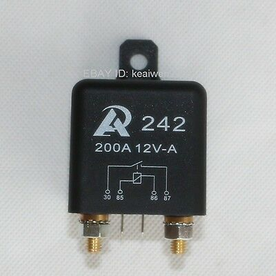 New Universal DC 12V 200A Car Relay 2 pin Split Charge Relay Normally open start