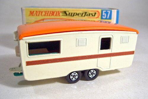 MATCHBOX SF Nº 57b CARAVANE ECCLES Caravane Crème Top Dans Box