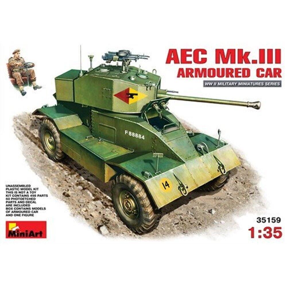 Minikonst 1 35 skala Aec Mk 3 Panorerad Bilbyggnad Kit (flerfärgig) -135