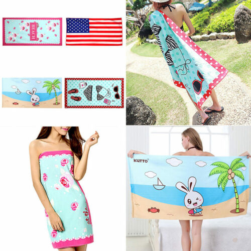 Camping Beach Gym Bath Travel Sports Swimming Towel Children cloak Microfiber