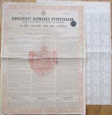 Denmark Giant Bond: Banque Hypothécaire du Royaume de Danemark/Banque/Bank 1908