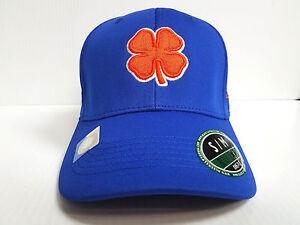 Boise State Broncos Black Clover Cap Lucky Premium Stretch Golf Hat ... 6496cbb6e912