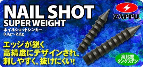Super Weight Nail type Tungsten Sinker. ZAPPU NAIL SHOT 8003