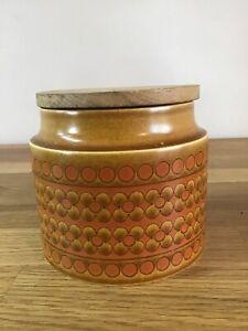 Vintage-Hornsea-Saffron-Jar-Container-1970s-Wooden-Lid-Retro