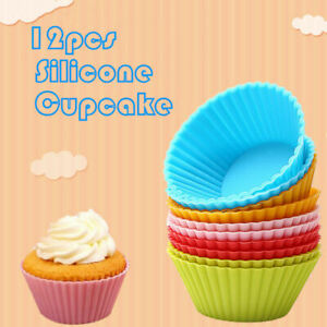 12pcs-Silicone-Cake-Muffin-Cupcake-Cup-Mold-Bakeware-Baking-Mould-Kitchen-Tools